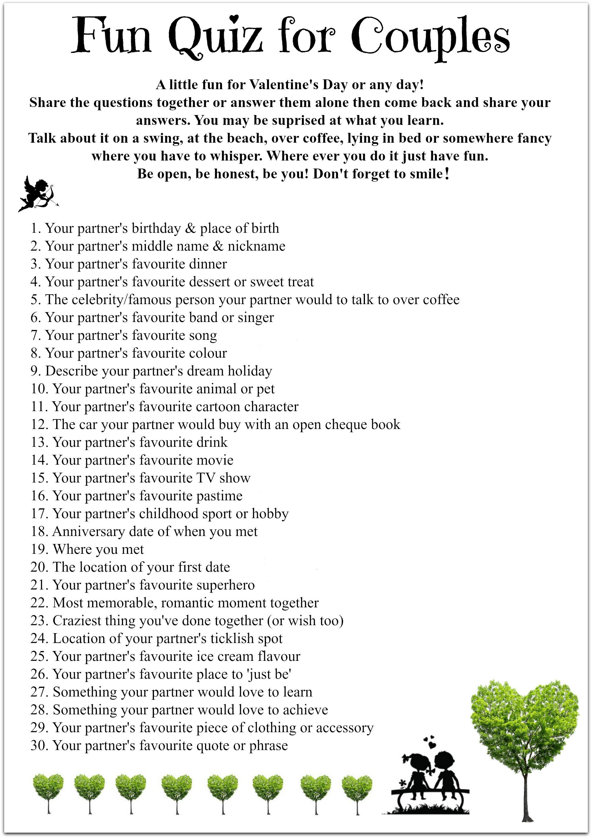 fun relationship quiz