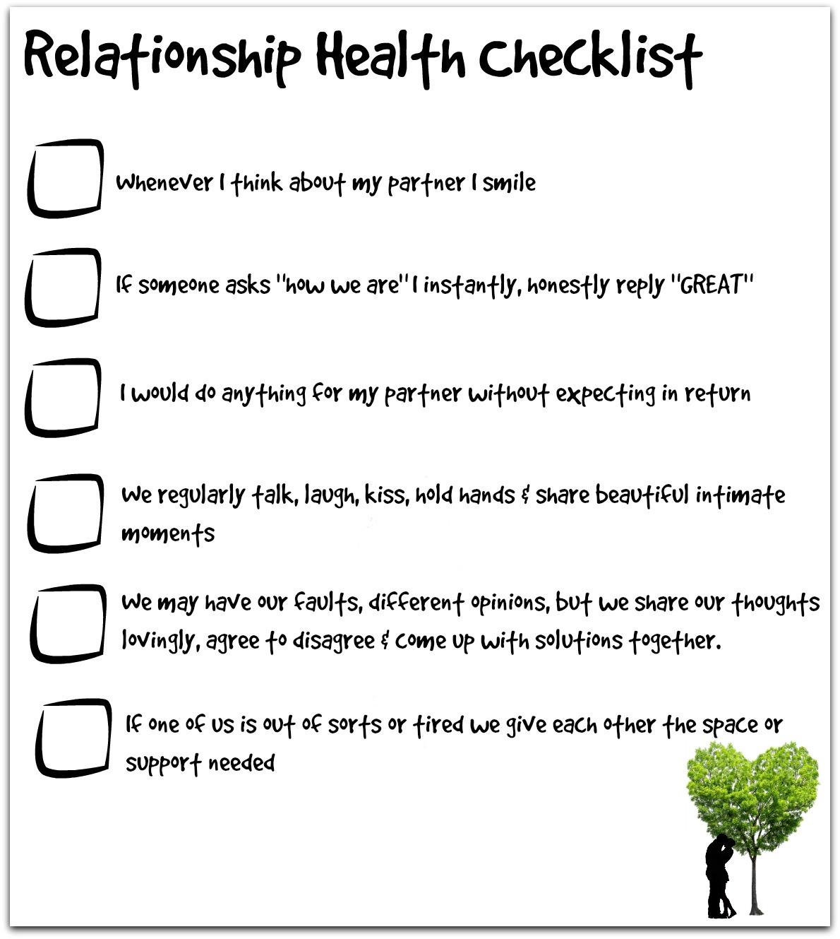 Relationship Health Checklist